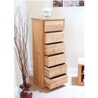 Baumhaus Mobel Oak Tallboy (6 Drawer)