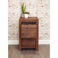 Baumhaus Mayan Walnut Two Drawer Filing Cabinet