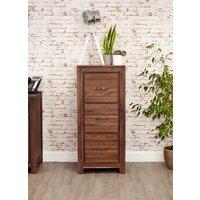 Baumhaus Mayan Walnut 3 Drawer Filing Cabinet