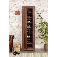 Baumhaus Mayan Walnut Tall Shoe Cupboard