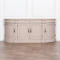 Maison Reproductions Distressed Buffet Sideboard / Cream / Curved