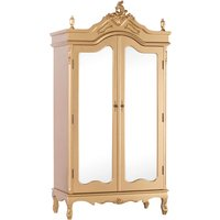Maison Reproductions French Antique Armoire Double Doors Display Cabinet / Gold / Double Door