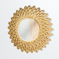 Maison Reproductions Metal Wall Mirror / Gold / Sunflower