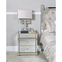 Deco Home Athens Gold Mirrored 3 Drawer Bedside Cabinet