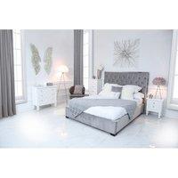 Monaco Grey Linen King Size Bed Frame