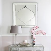 Deco Home Sahara Marrakech Moroccan Mirrored Silver Large Wall Mirror