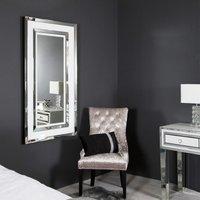 White Manhattan Medium Floor Mirror