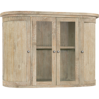 Rowico Aylesbury Natural Ash Hutch For Sideboard With 2 Glass Doors