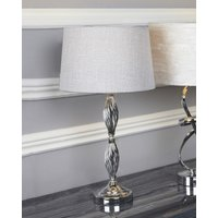 Deco Home Wire Ball Table Lamp With Light Grey Shade
