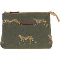Cheetah Canvas Makeup Bag