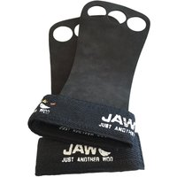Jaw Leather Pullup Grips Black