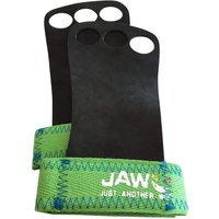 Jaw Leather Pullup Grips Green