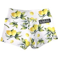 Savage Lemon White Booty Shorts