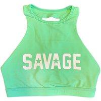 Savage Sports Bra High Neck Sea Foam