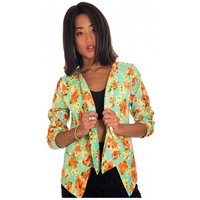Green Floral Waterfall Jacket