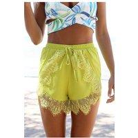 Mustard Lace Shorts