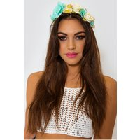 Blue & Yellow Floral Festival Hairband