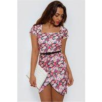 Celebrity Style Floral Bodycon Dress