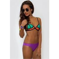 Savannah Turquoise Two Tone Bikini