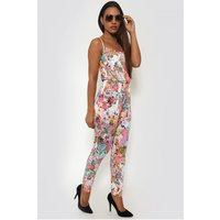 Holiday Romance Floral Jumpsuit