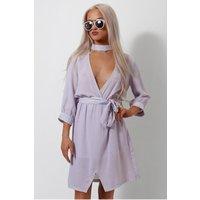 Lilac Choker Shift Dress