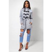 Grey Toggle Duffle Style Coat