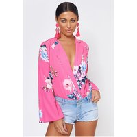 Haiti Pink Floral Bodysuit