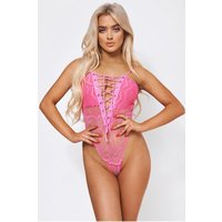 Miu Pink Lace Bodysuit