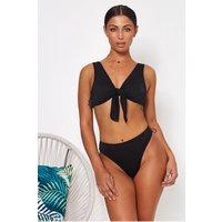 Havana Black Tie Front Bikini