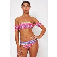 Jada Pink Bardot Aztec Bikini
