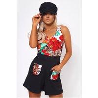Anaya Floral Pocket Front Playsuit