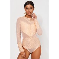 Amalfi Peach Lace Bodysuit