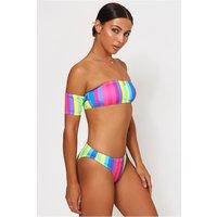 Candy Stripe Bardot Bikini
