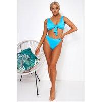 Havana Blue Tie Front Bikini