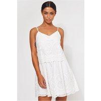 Parisia White Broderie Anglaise Slip Dress