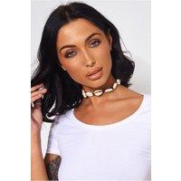 Esra White Shell Choker Necklace