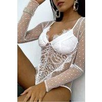 Coco White Lace Bodysuit