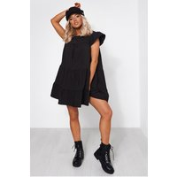 Luca Petite Black Smock Dress