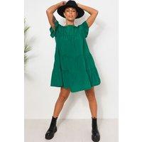 Luca Green Frill Smock Dress