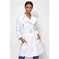 Tia White Trench Coat