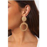 Alia Gold Circle Statement Earrings