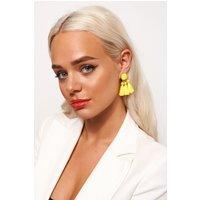 Ari Yellow Tassel Earrings