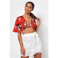 White Frill Broderie Anglaise Skirt