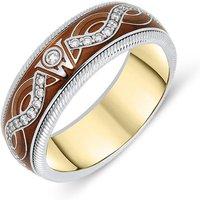 Wellendorff 18ct White Gold Enamel Diamond Ring