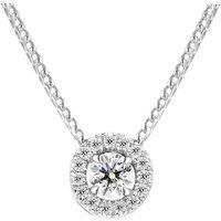 18ct White Gold 0.33ct Brilliant Cut Diamond Pave Round Necklace