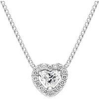 18ct White Gold 0.56ct Diamond Pave Heart Necklace