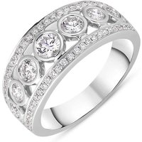 18ct White Gold Diamond Seven Stone Half Eternity Ring