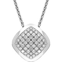 18ct White Gold Diamond Square Necklace