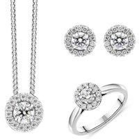 18ct White Gold Diamond Three Piece Gift Set