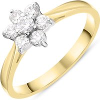 18ct Yellow Gold 0.33ct Diamond Flower Cluster Ring
